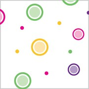 Shamrock Printed Cello Bag, Mod Dots-Bright, 5X3X11.5