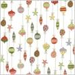 Shamrock Printed Cello Bag, Merry Ornaments, 4X2.5X9.5