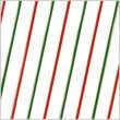 Shamrock Printed Cello Bag, Diagonal Stripes, 5X3X11.5
