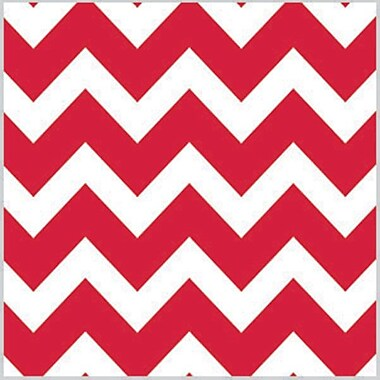 Shamrock Printed Tissue, Bold Chevron Red