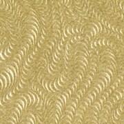 Shamrock Satinique Tissue, Embossed Gold Swirls