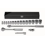 Wright Tool 19 Piece Standard Socket Set, 1/2 Drive