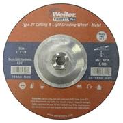 Weiler® Vortec Pro® Type 27 - Pipeline Cutting & Light Grinding Wheels