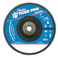 Weiler® Tiger Paw™ 40 Grit Super High Density Flap Disc, 7in.