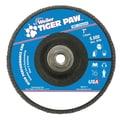 Weiler® Tiger Paw™ 40 Grit Super High Density Flap Disc, 7in.