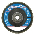 Weiler® Tiger Paw™ 60 Grit Super High Density Flap Disc With 5/8in. Arbor Hole, 4 1/2in.