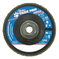 Weiler® Tiger Paw™ 36 Grit Super High Density Flap Disc With 5/8in. Arbor Hole, 4 1/2in.