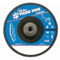 Weiler® Tiger Paw™ 40 Grit Coated Type 27 Abrasive Flap Disc With 5/8in. Arbor Hole, 7in.