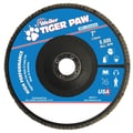 Weiler® Tiger Paw™ 60 Grit Coated Type 27 Abrasive Flap Disc With 7/8in. Arbor Hole, 7in.