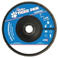 Weiler® Tiger Paw™ 40 Grit Coated Type 27 Abrasive Flap Disc With 7/8in. Arbor Hole, 7in.