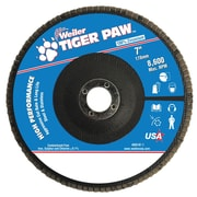 "Weiler® Tiger Paw™ 40 Grit Coated Type 27 Abrasive Flap Disc With 7/8"" Arbor Hole, 7"""