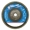 Weiler® Tiger Paw™ 60 Grit Coated Abrasive Flap Disc With 5/8in. Arbor Hole, 5in.
