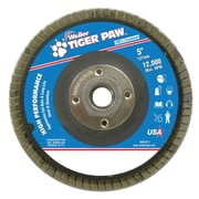 "Weiler® Tiger Paw™ 60 Grit Coated Abrasive Flap Disc With 5/8"" Arbor Hole, 5"""