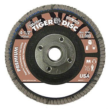 Weiler® Tiger® 50669 Abrasive Flap Disc, 4 1/2