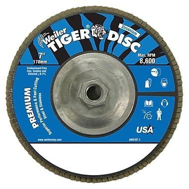 Weiler® Tiger Disc 120 Grit Abrasive Flap Disc, 7