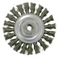 Weiler® Vortec Pro® 4in. Standard Twist Wheel Brush