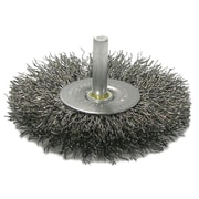 "Weiler® 4"" Crimped Wire Radial Wheel Brush"