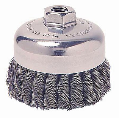 """""Weiler 1.625"""""""" General-Duty Knot Wire Cup Brush"""""" 1160966"