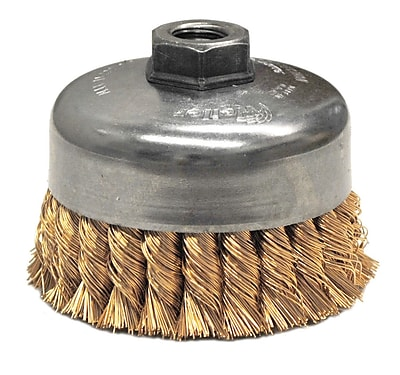 """""Weiler 4"""""""" Single Row Knot Wire Cup Brush"""""" 1161718"