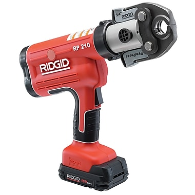 Ridgid® RP 210 Battery Powered Press Tool Kit with ProPress Jaws 1/2