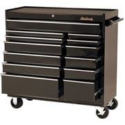 "Blackhawk 41"" 13 Drawer Roller Cabinet, Black"