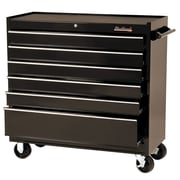 "Blackhawk 41"" 6 Drawer Roller Cabinet, Black"