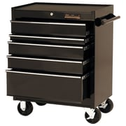 Blackhawk 27 5 Drawer Roller Cabinet, Black