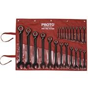 Proto® 22 Piece Spline Reversing Combination Ratcheting Wrench Set
