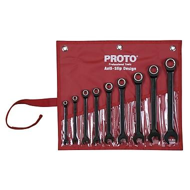 Proto® 9 Piece Spline Non-Reversing Combination Ratcheting Wrench Set