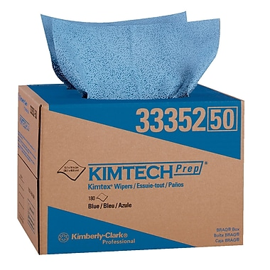 Kimberly-Clark Professional® Kimtech Prep® Kimtex® 1-Ply Wiper, Blue, 180/Box
