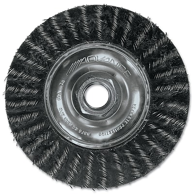 """""PFERD Advance Brush 7"""""""" Encapsulated Stringer Bead Twist Threaded Knot Wheel Brush"""""" 1161748"