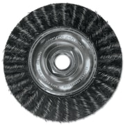 "PFERD Advance Brush 7"" Encapsulated Stringer Bead Twist Threaded Knot Wheel Brush"