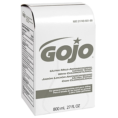GOJO® Ultra Mild Antimicrobial Lotion Soap With Chloroxylenol, 800 ml, Lemon