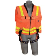 DBI/Sala® Work Vest Harness, Hi-Viz Orange, Universal