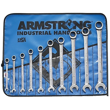 Armstrong® Tools 10 Piece 12 Point Ratcheting Combination Wrench Set