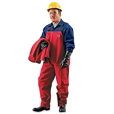 Ansell® Sawyer-Tower Collared Disposable Bib Overall, Red, Large