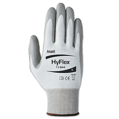 Ansell® HyFlex® Polyurethane Light Cut Protection Gloves, Gray, Size 6, 12 Pair