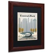 "Trademark Anderson ""NY Central Park"" Art, Black Matte W/Wood Frame, 11"" x 14"""