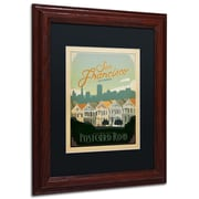 "Trademark Anderson ""San Francisco II"" Paper Art, Black Matte W/Wood Frame, 11"" x 14"""