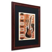 "Trademark Anderson ""Cleveland"" Paper Art, Black Matte W/Wood Frame, 16"" x 20"""