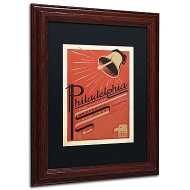 Trademark Anderson Black Matte W/Wood Frame