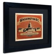 "Trademark Anderson ""Washington DC II"" Art, Black Matte W/Black Frame, 11"" x 14"""