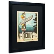 "Trademark Anderson ""Vancouver, Canada"" Paper Art, Black Matte W/Black Frame, 16"" x 20"""