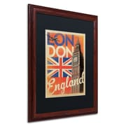 Trademark Anderson London, England Paper Art, Black Matte W/Wood Frame, 16 x 20