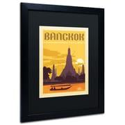"Trademark Anderson ""Bangkok, Thailand"" Paper Art, Black Matte W/Black Frame, 16"" x 20"""