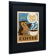 "Trademark Anderson ""Night Owl Blend Coffee"" Paper Art, Black Matte W/Black Frame, 16"" x 20"""