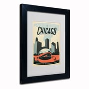 Trademark Anderson Chicago Cloud Gate Art, White Matte W/Black Frame, 11 x 14
