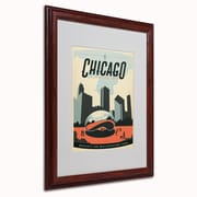 Trademark Anderson Chicago Cloud Gate Art, White Matte W/Wood Frame, 16 x 20