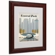 """Trademark Anderson """"NY Central Park"""" Art, White Matte W/Wood Frame, 11"""" x 14"""""""