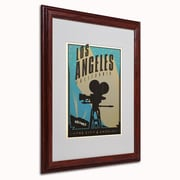 """Trademark Anderson """"Los Angeles"""" Paper Art, White Matte W/Wood Frame, 16"""" x 20"""""""